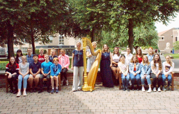 Teenage Harp Course 2018: Tutors and Students