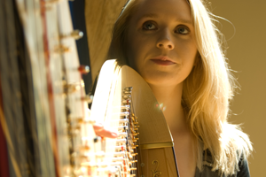 Photograph of Claire Jones Royal Harpist to HRH The Prince of Wales